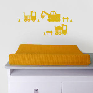 Muurstickers Graafmachine oker geel_ANNIdesign