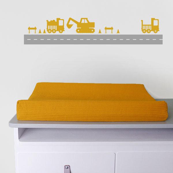 Muurstickers Graafmachine oker geel_ANNIdesign_01
