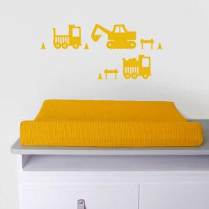 Muurstickers Graafmachine warm geel ANNIdesign_01