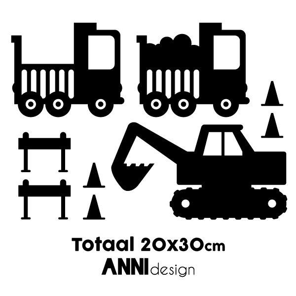 Muurstickers Graafmachine zwart_ANNIdesign_02