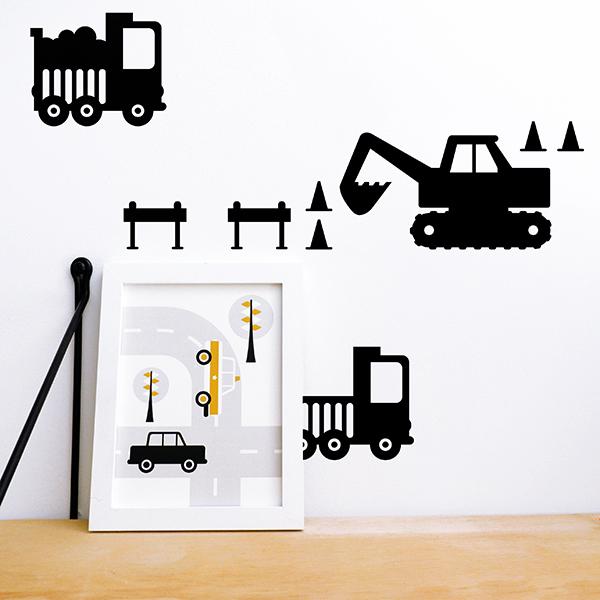 Muurstickers Graafmachine zwart_ANNIdesign_03
