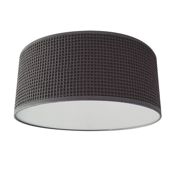 Plafondlamp Wafelstof Donkergrijs_Bi Li Creaties