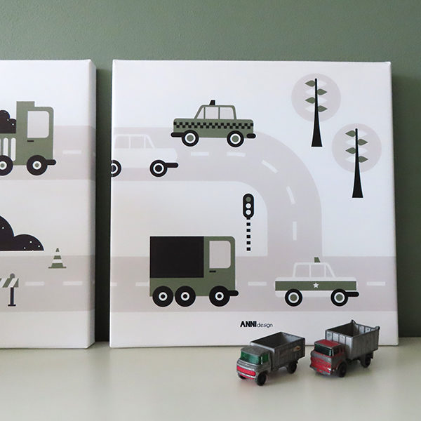 canvas voertuigen auto olijfgroen 026 ANNIdesign 01