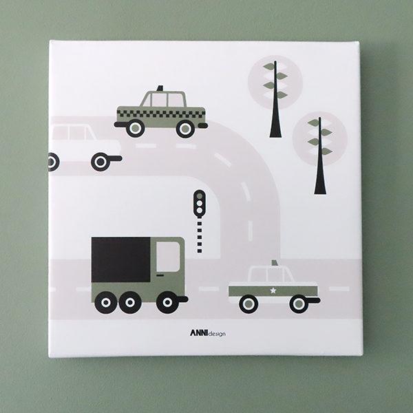 canvas voertuigen auto olijfgroen 026 ANNIdesign 02