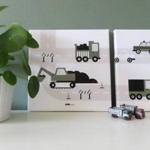 canvas voertuigen graafmachine olijfgroen 025 ANNIdesign 01