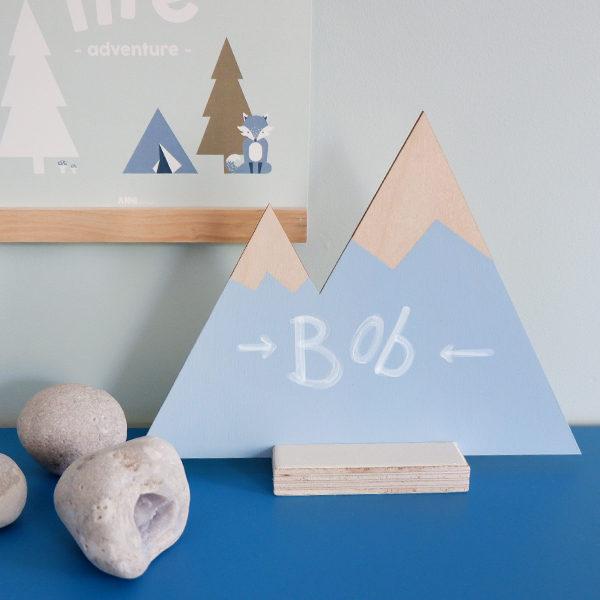 Houten deco Bergen_ANNIdesign_blauw 02