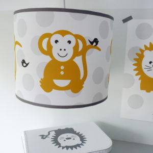 Lamp Aap_ANNIdesign_op grijze stip_01