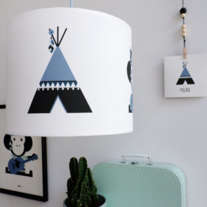 Lamp Indiaan Tipi en Aap_ANNIdesign_jeans blauw_01