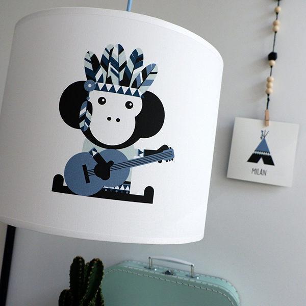 Lamp Indiaan Tipi en Aap_ANNIdesign_jeans blauw_02