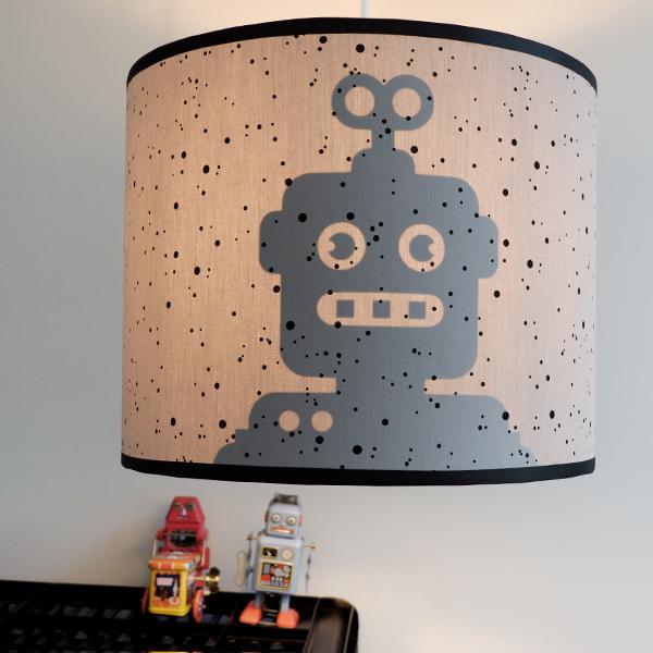 Lamp silhouet Robot_ANNIdesign_confetti op grijs_01