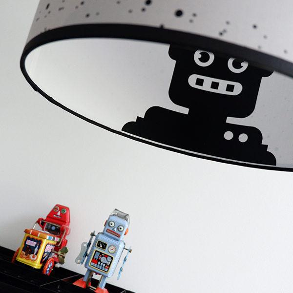Lamp silhouet Robot_ANNIdesign_confetti op grijs_03