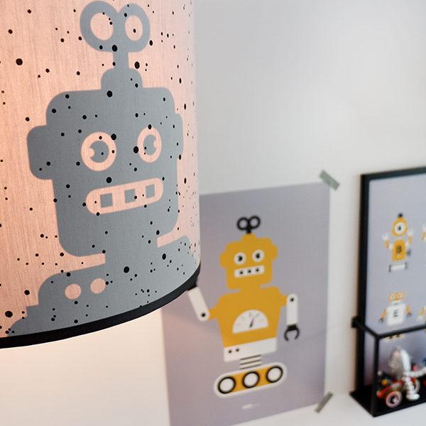 Lamp silhouet Robot_ANNIdesign_confetti op grijs_06
