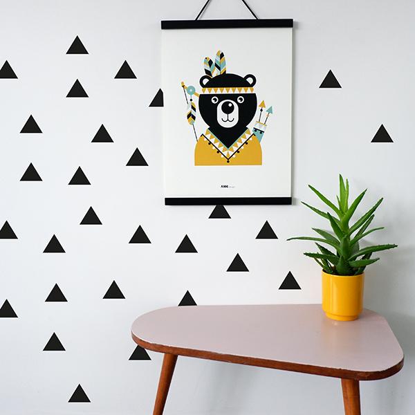 Muurstickers Triangel zwart ANNIdesign 03