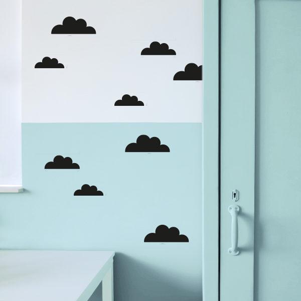 Muursticker Wolken_ANNIdesign_zwart 01
