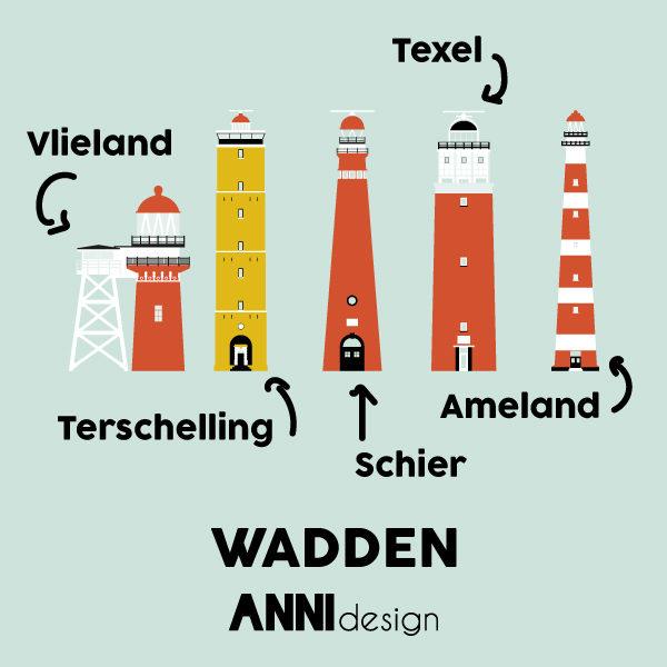 Geboortekaart Wadden Vuurtorens_ANNIdesign