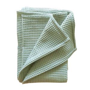 Ledikantdeken Basic wafelstof old green ANNIdesign