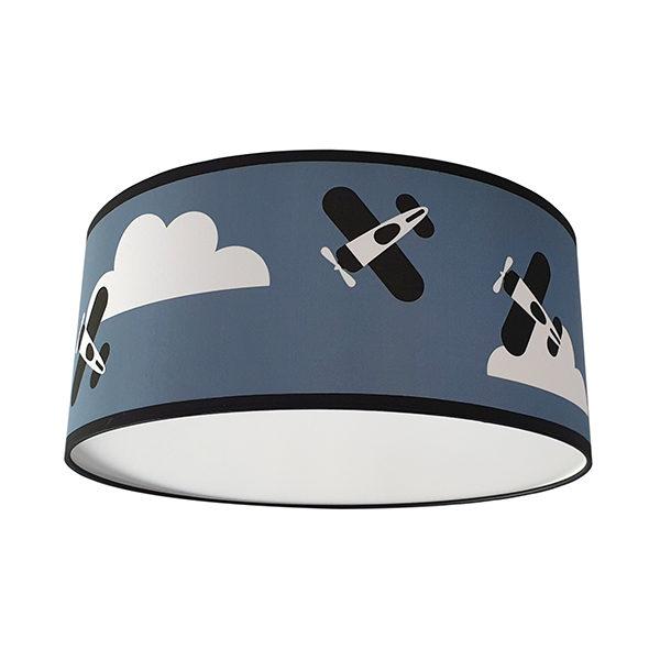 Plafondlamp Vliegtuigen en Wolken_ANNIdesign_Jeans blauw_02