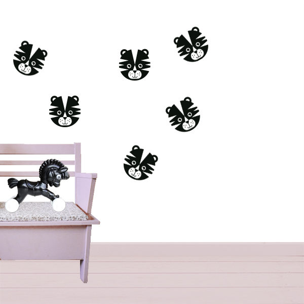 Muurstickers Tijger zwart_ANNIdesign_01
