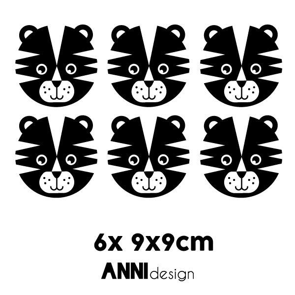 Muurstickers Tijger zwart_ANNIdesign_02