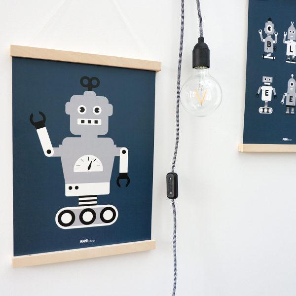 Poster Robot ANNIdesign donker blauw 01