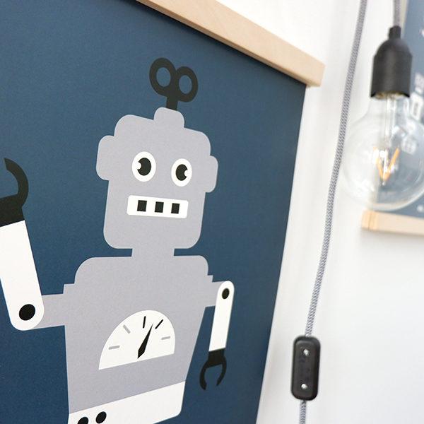 Poster Robot ANNIdesign donker blauw 02