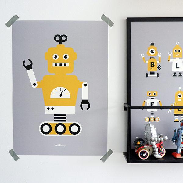 Poster Robot ANNIdesign grijs 01