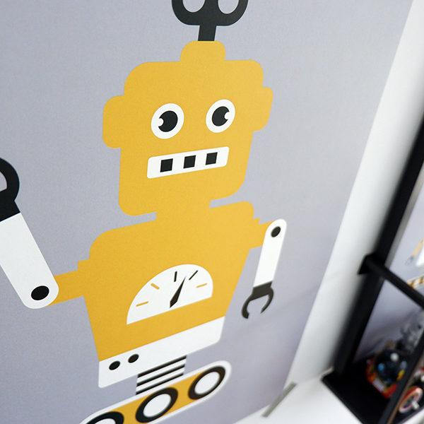 Poster Robot ANNIdesign grijs 02
