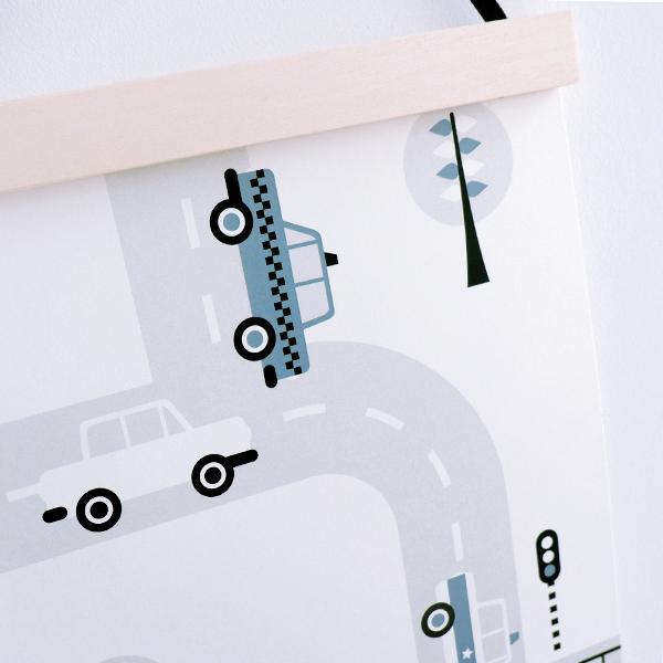 Poster Voertuigen Auto's ANNIdesign jeans blauw 04
