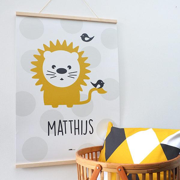 Poster XL Leeuw met naam_ANNIdesign 01