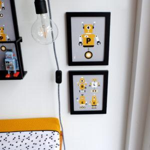 Poster set Robot ANNIdesign grijs 01