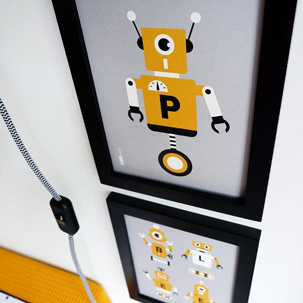 Poster set Robot ANNIdesign grijs 02