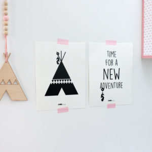 Poster set Tipi New Adventure ANNIdesign black&white 01