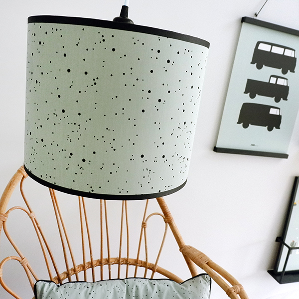 Lamp basic Confetti op Old green ANNIdesign 01