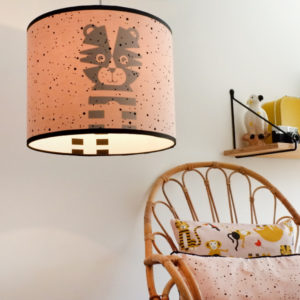 Lamp silhouet Tijger ANNIdesign Confetti op roze 01