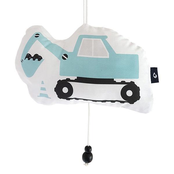 Muziekhanger Graafmachine blauw ANNIdesign 01