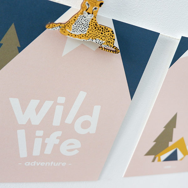 Poster Set Wild Life oud roze ANNIdesign 02