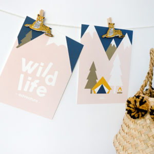 Poster set Wild Life old green ANNIdesign 03