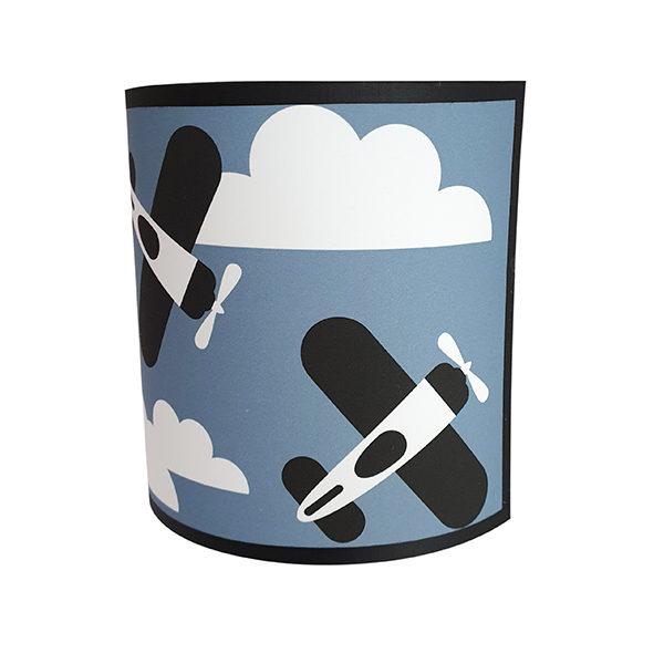 Wandlamp Vliegtuigen en Wolken jeans blauw ANNIdesign 02
