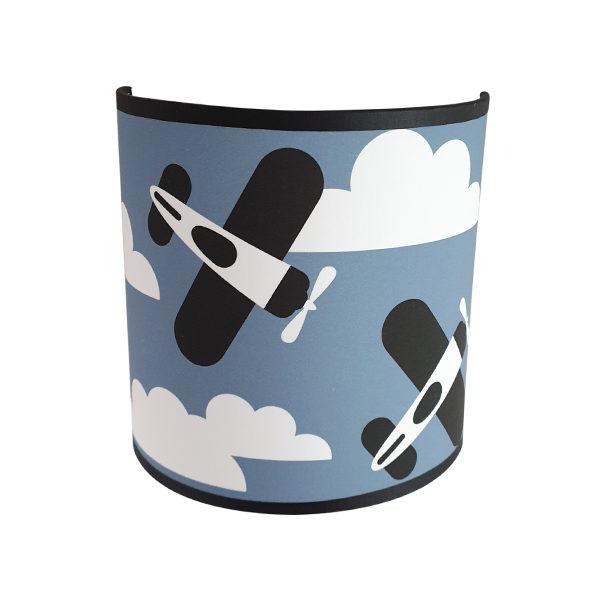 Wandlamp Vliegtuigen en Wolken jeans blauw ANNIdesign 03
