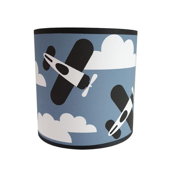 Wandlamp Vliegtuigen en Wolken jeans blauw ANNIdesign