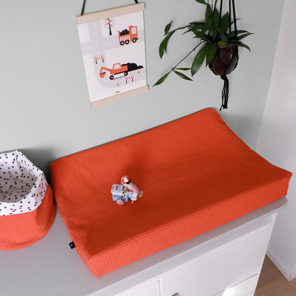 Aankleedhoes Wafelstof Basic terracotta rood ANNIdesign 01