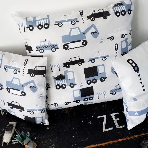 Kussen XL Voertuigen ANNIdesign jeans blauw 02