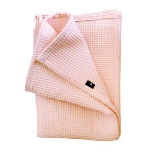Ledikant deken basic_Wafelstof roze_ANNIdesign 02