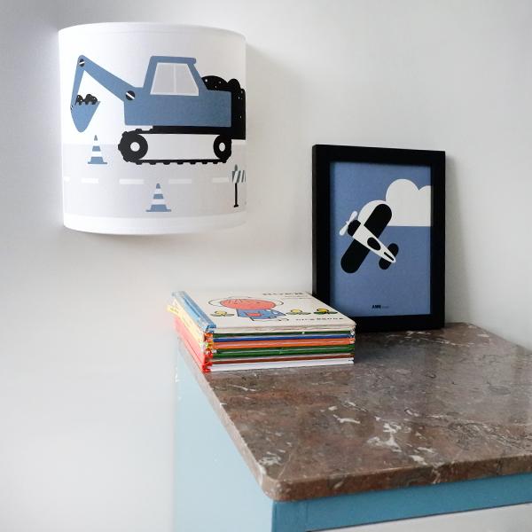 Wandlamp Graafmachine jeansblauw ANNIdesign 01