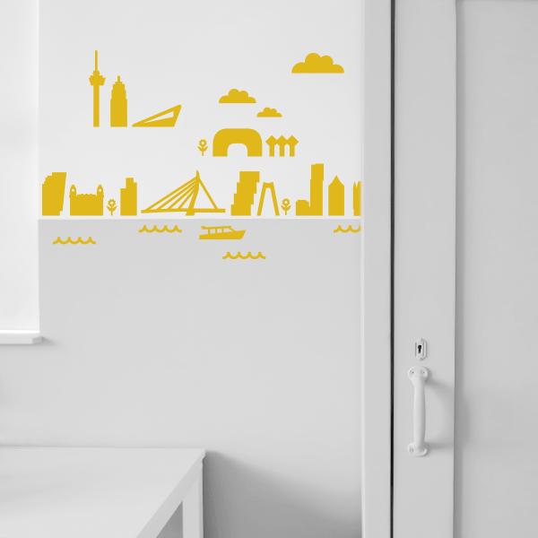 Muurstickers Rotterdam oker geel_ANNIdesign_01