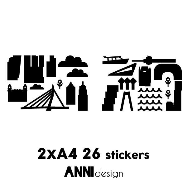 Muurstickers Rotterdam zwart_ANNIdesign_02