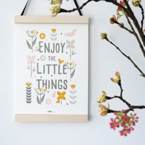 Poster Bloemen Enjoy little things ANNIdesign olijf groen 01