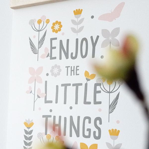 Poster Bloemen Enjoy little things ANNIdesign olijf groen 02