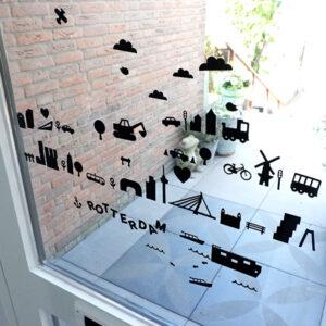 Raamstickers Rotterdam zwart ANNIdesign 01