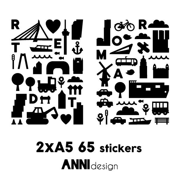 Raamstickers Rotterdam_ zwart_ANNIdesign_2x A5
